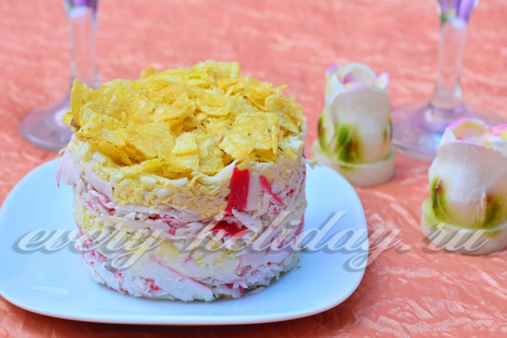 Блины с курицей салат рецепт пошагово 93