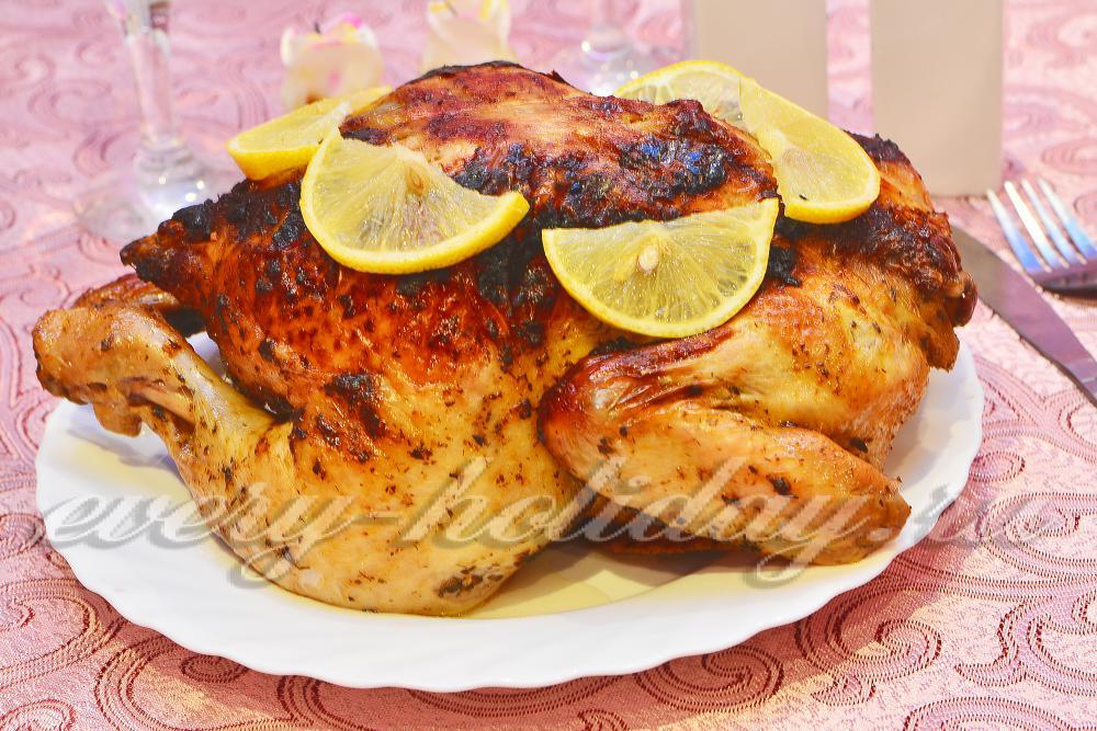 курица в сметане и горчице в духовке