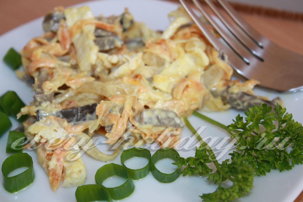 салаты из мяса пошаговые рецепты с фото