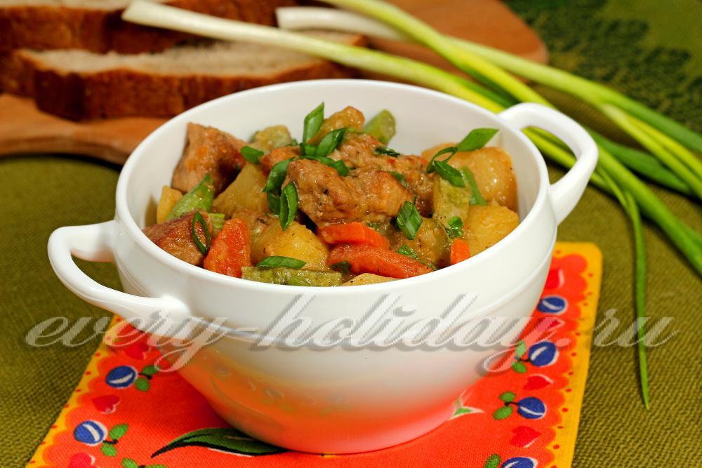 Рагу овощное по домашнему рецепт