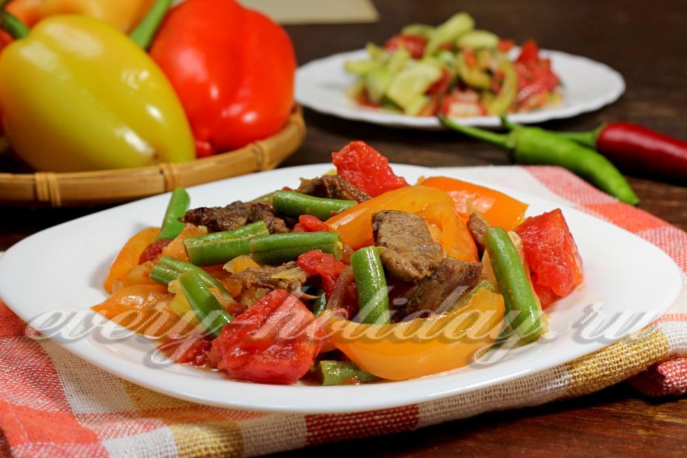 рецепты салатов с болгарским перцем и фасолью