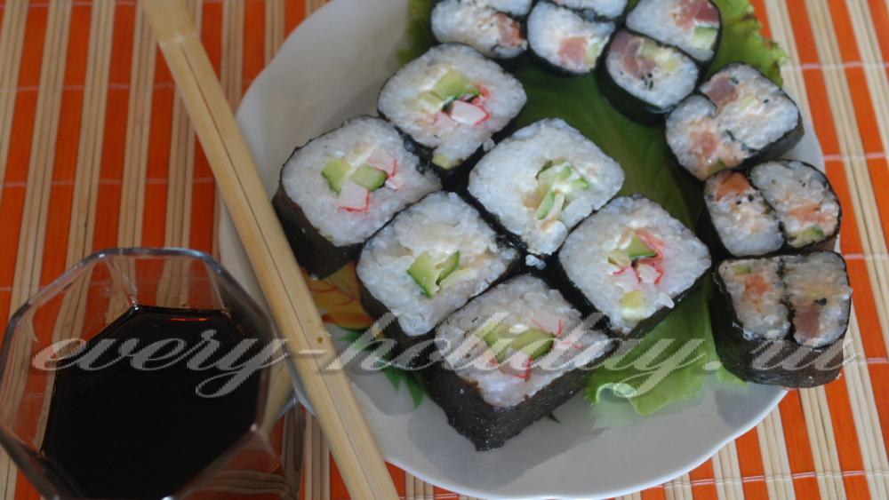 Суши с огурцом рецепт в домашних условиях
