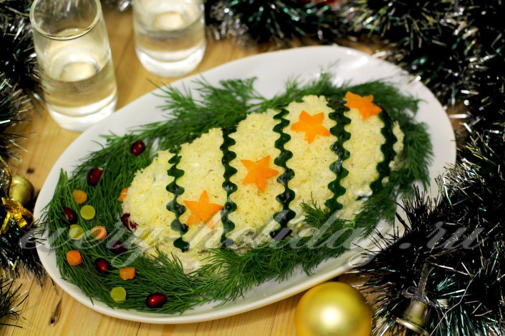 салат новогодняя хлопушка с фото