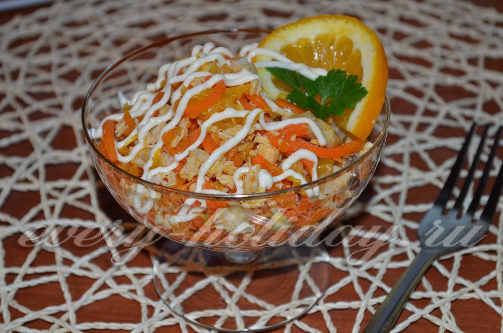Салат рыжик с корейской морковью
