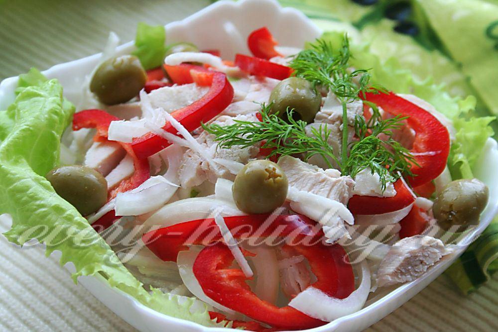 Рецепт салат мексиканский с курицей и перцем