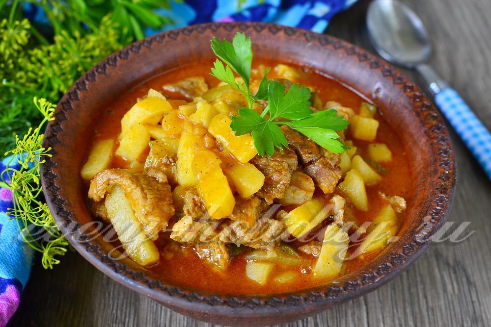 Азу по-татарски с курицей с фото