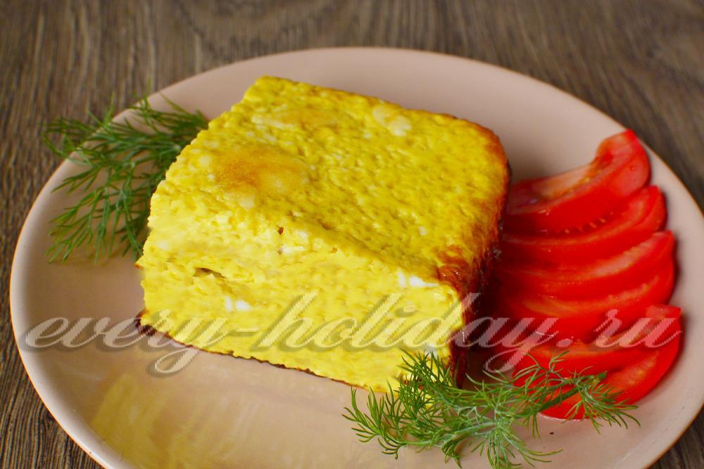 Приготовление омлета в духовке как в детском саду пошаговый рецепт с