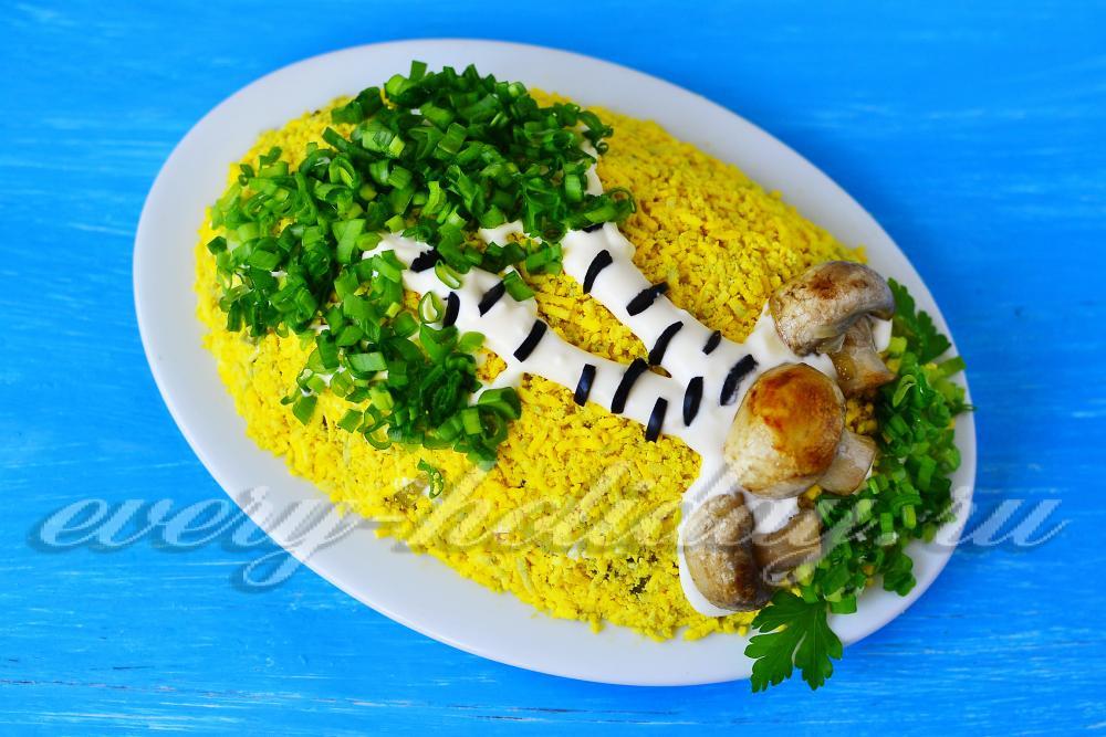 Салат берёза пошаговый рецепт с
