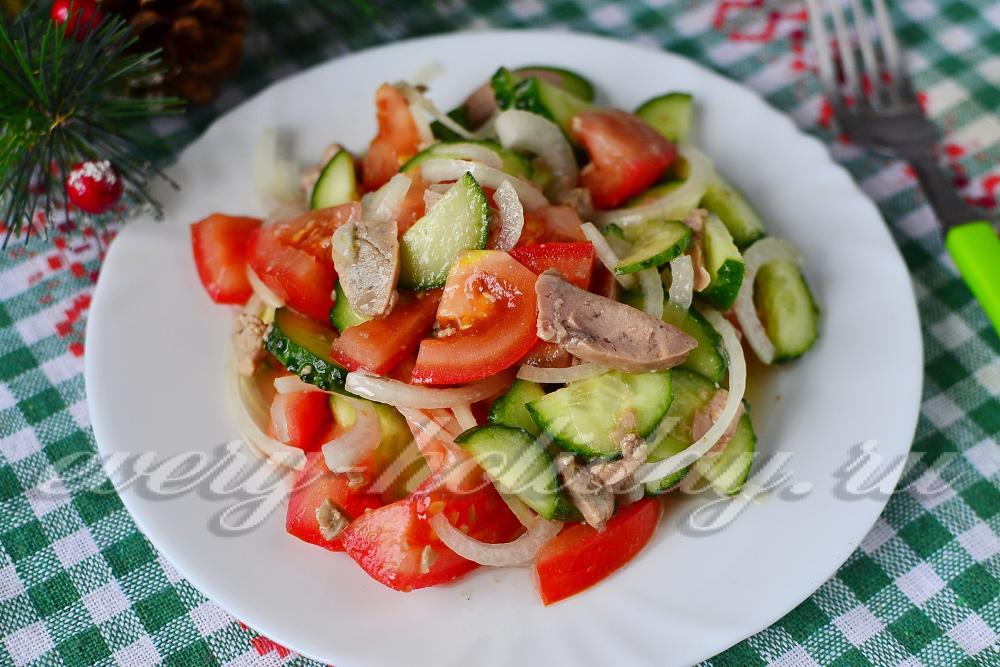 салат из печени свиной рецепт с фото очень вкусный