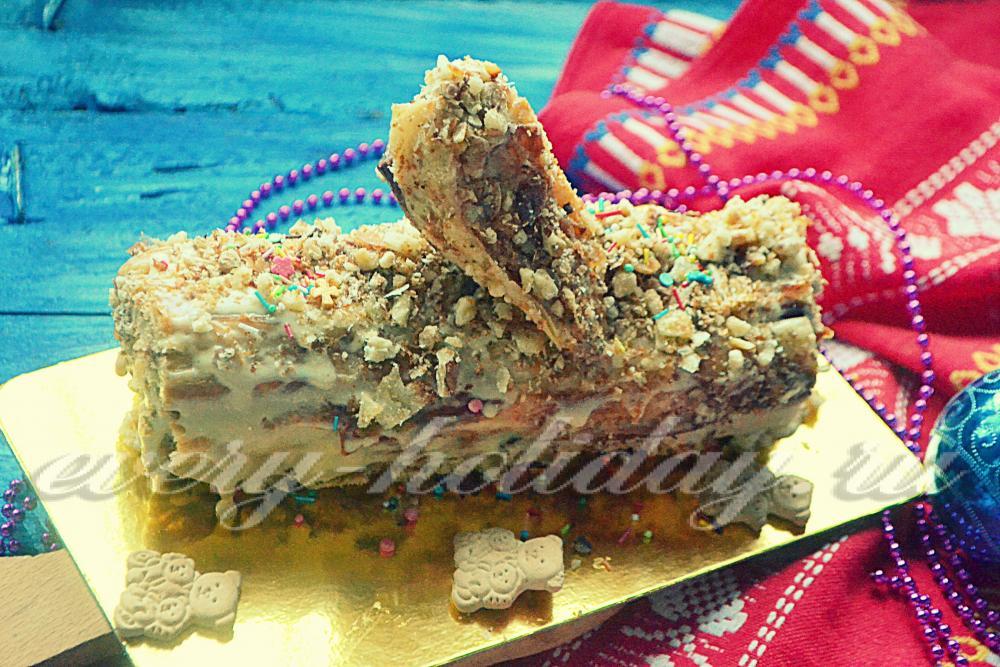 Торт полено с фото пошагово в домашних условиях 551