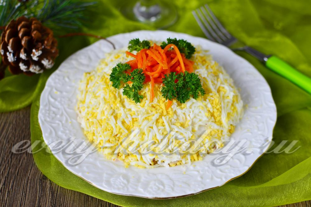 салат с морковью капустой и курицей рецепт