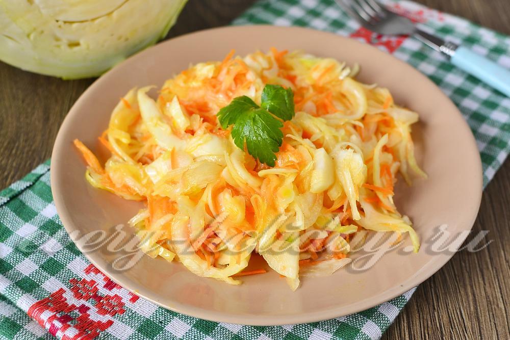 Как сделать салат из свежей капусты как в столовой