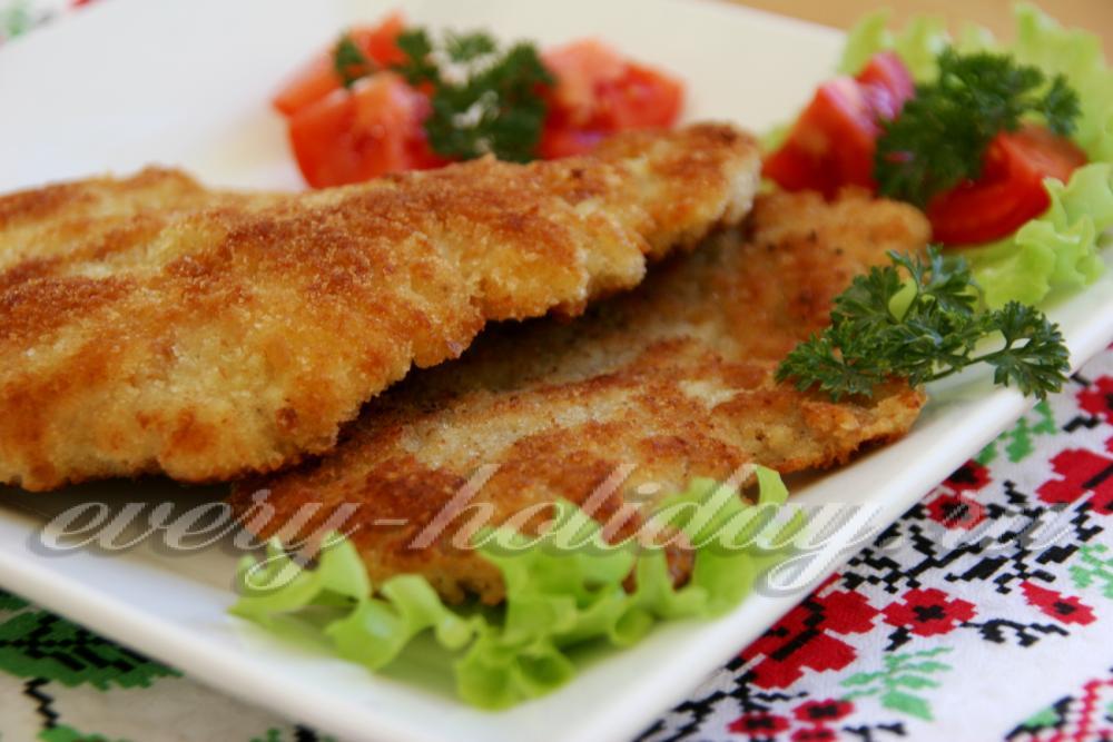 мясо в сухарях на сковороде рецепт