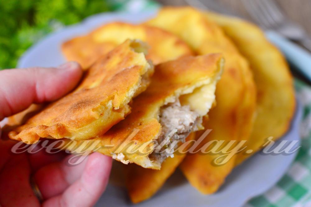 тесто для чебуреков рецепт на кефире с пошагово в духовке