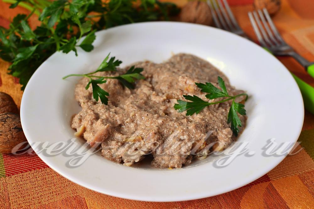 Сациви из утки по-грузински пошаговый рецепт