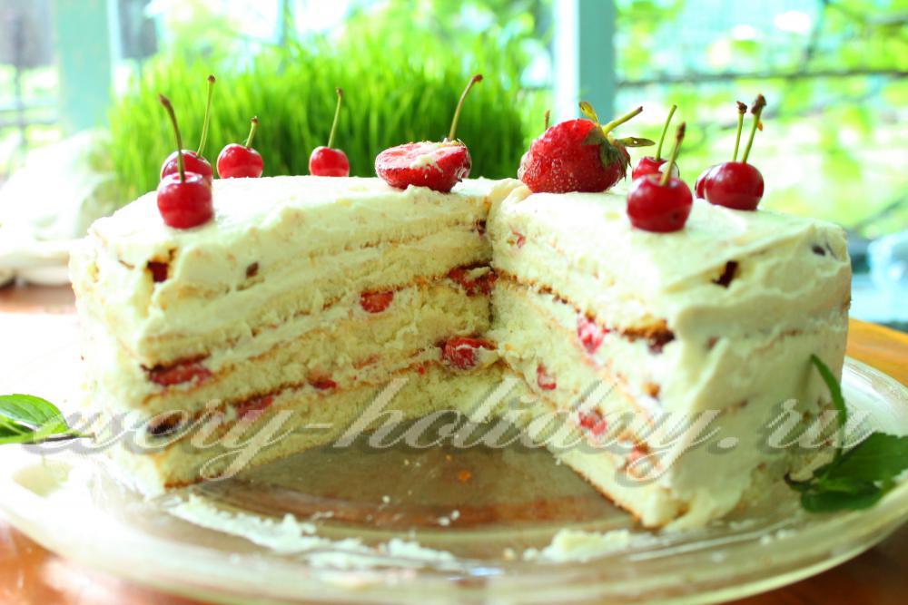 Клубничный крем для бисквитного торта