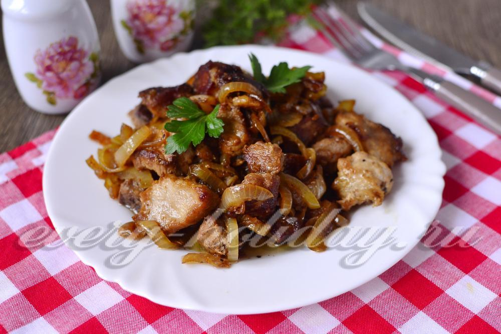 Мясо свинина жареное на сковороде рецепт с пошагово