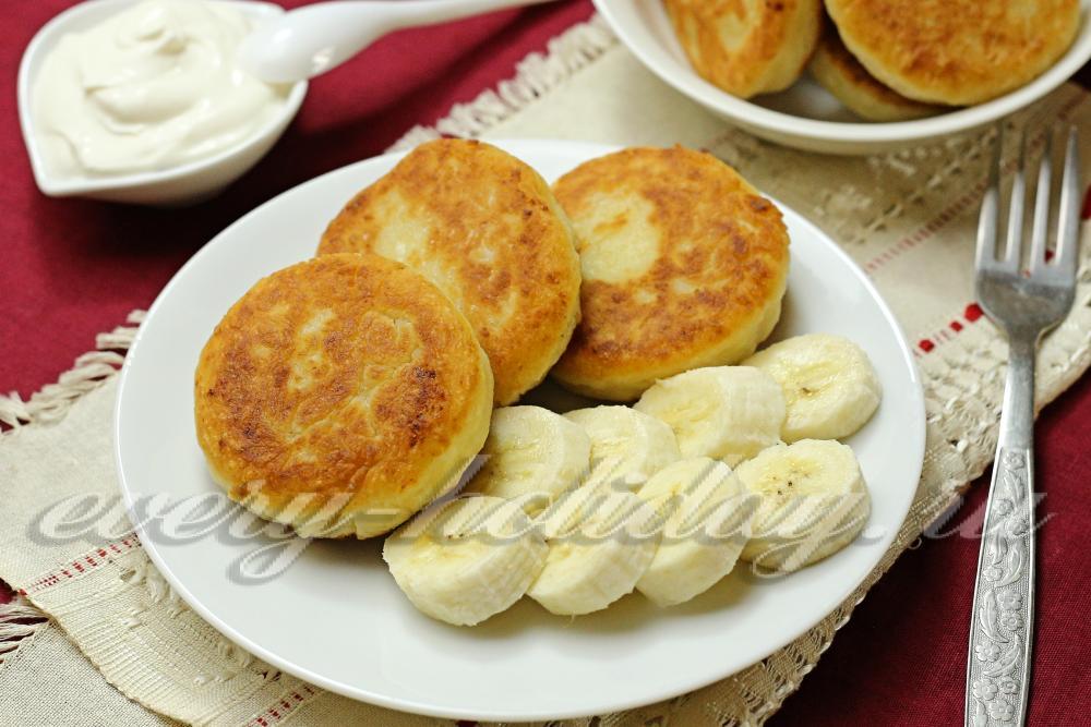 Сырники из творога бананом рецепт с пошагово