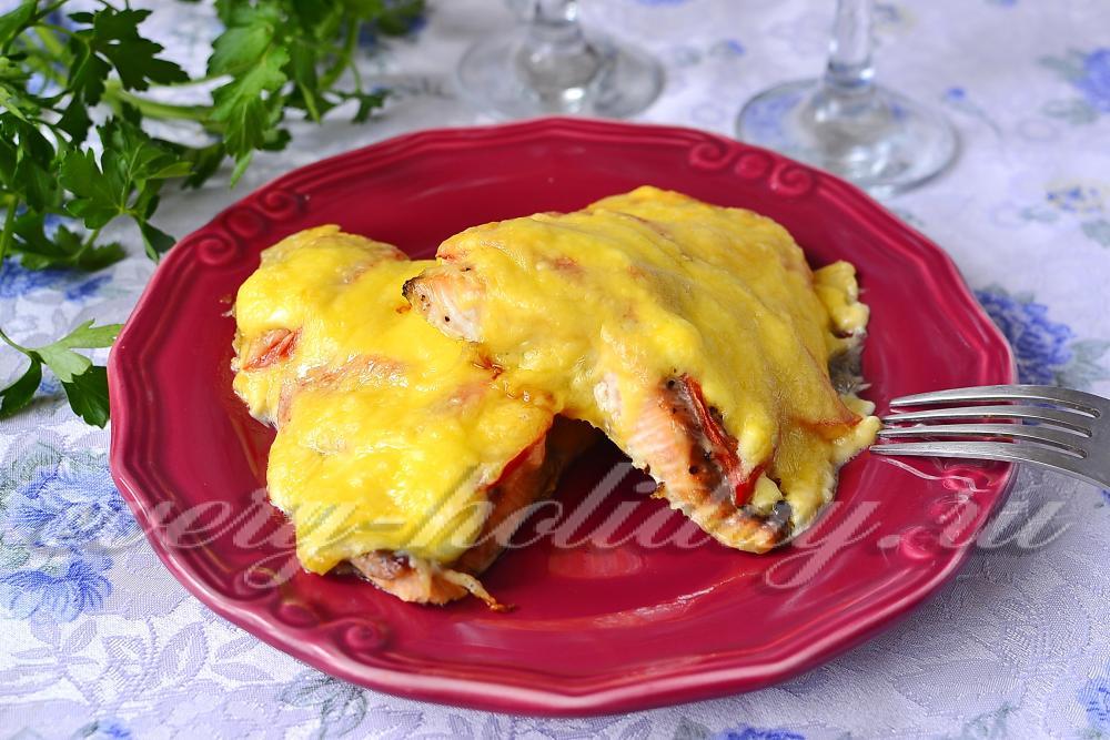 Горбуша в духовке рецепты с помидорами и лимоном