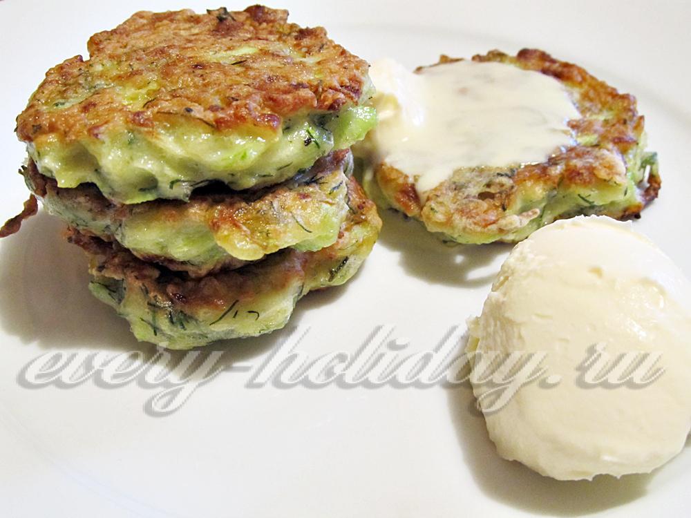 рецепт оладий из кабачков с картофелем #10