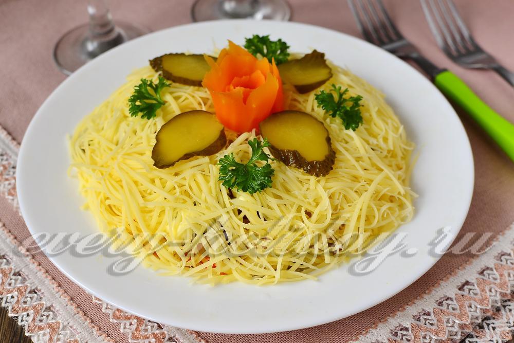 как приготовить салат с языка рецепт с фото