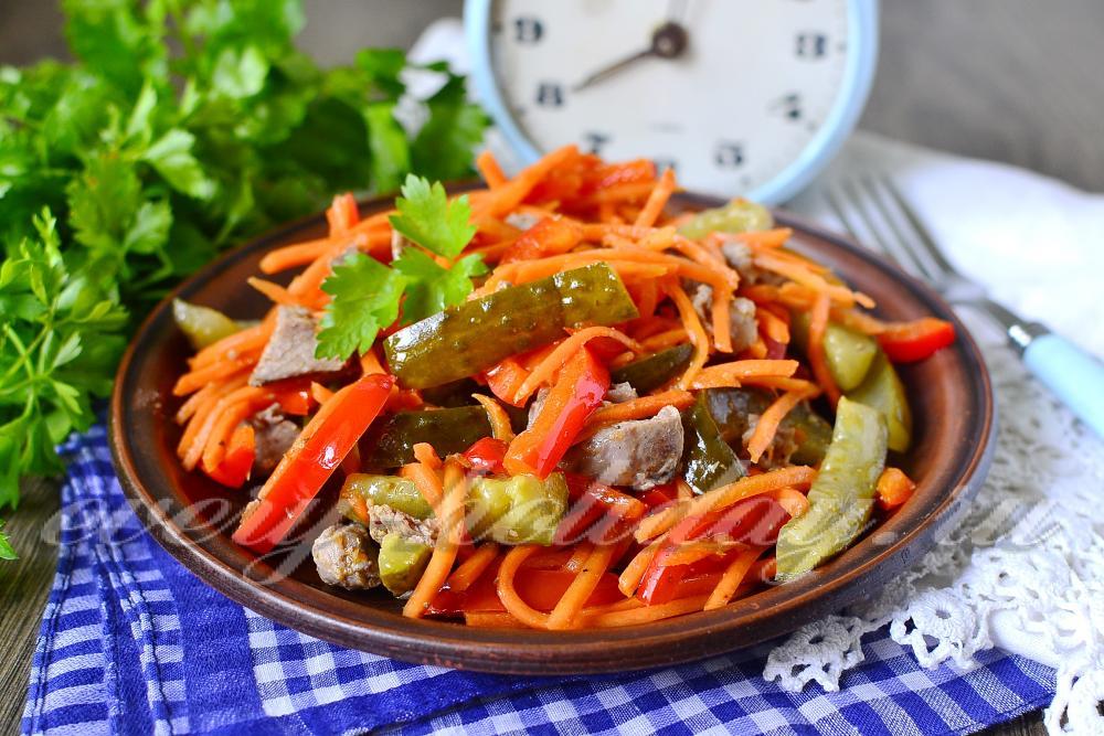 салат и моркови по корейски