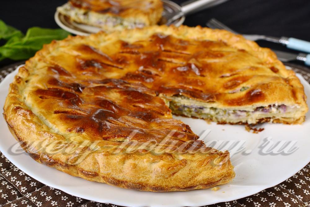Рецепт пирога из шпината и слоеного теста