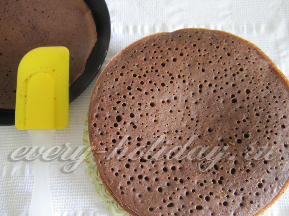 Шоколадный корж рецепт с фото пошагово