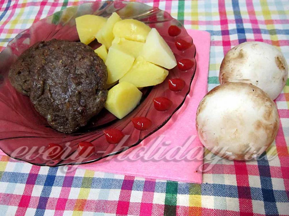 Котлеты рецепт с пошаговым фото с грибами