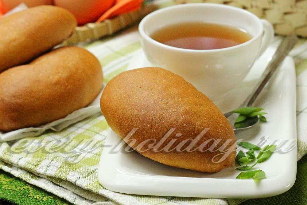 Пирожки с яйцом рисом и зеленым луком в духовке пошаговый рецепт с фото