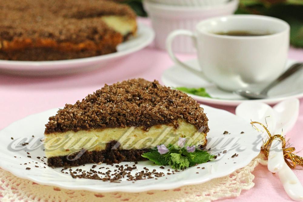 насыпной пирог с творогом рецепт с фото пошагово в духовке