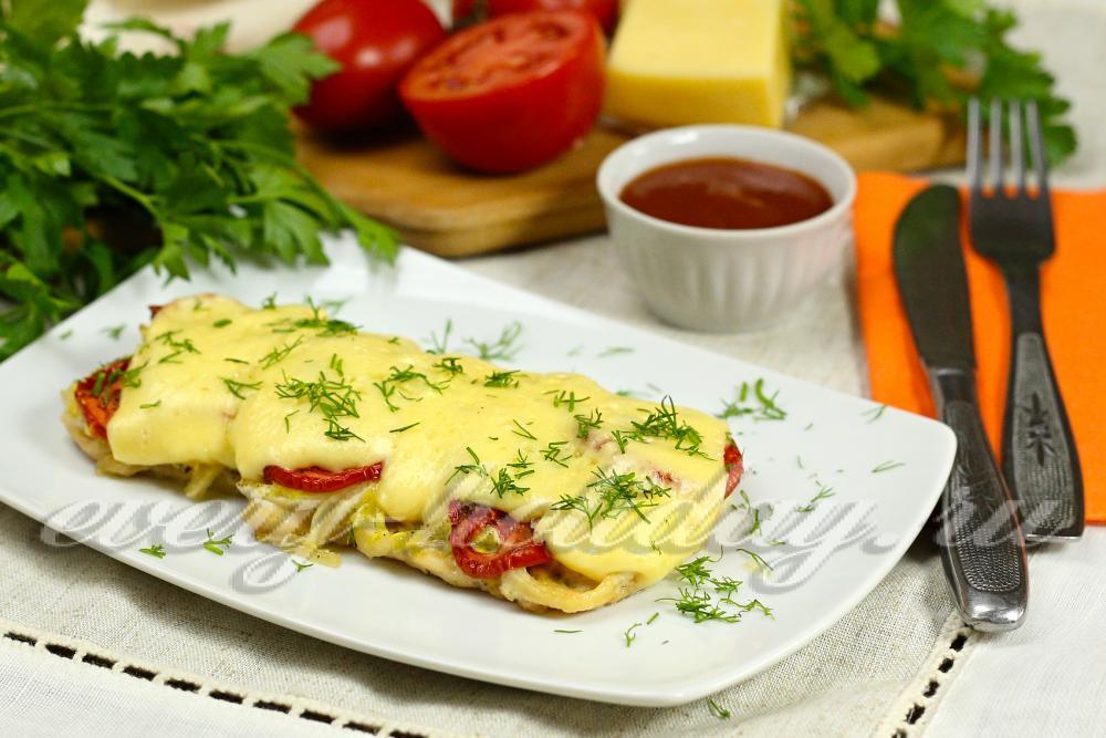 Филе куриное с помидорами и сыром рецепт с пошагово