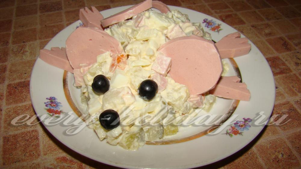 зимний салат рецепт классический с солеными огурцами рецепт