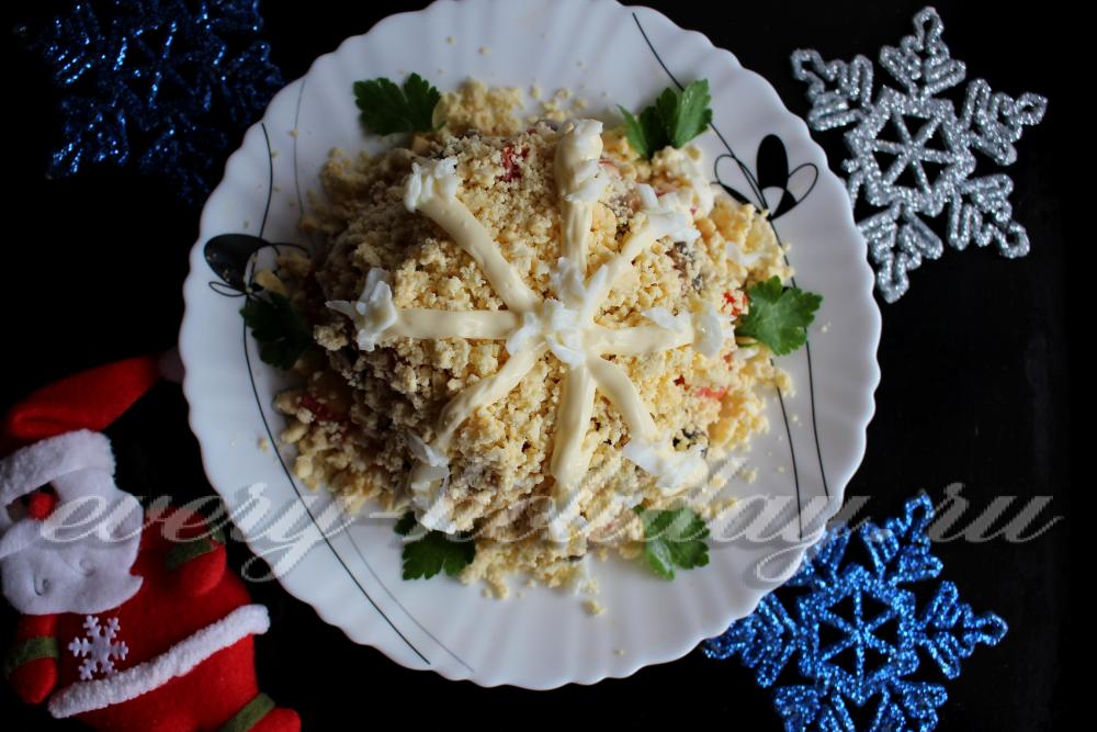 Рецепт салата снежинка с фото