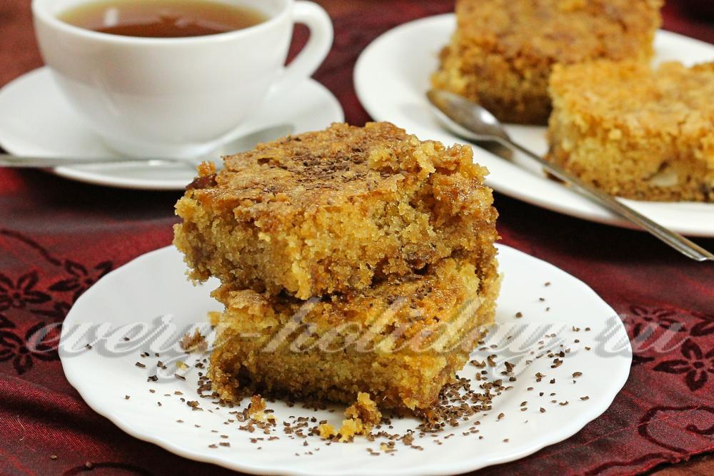 Пирог без яиц с яблоками рецепт пошагово в духовке