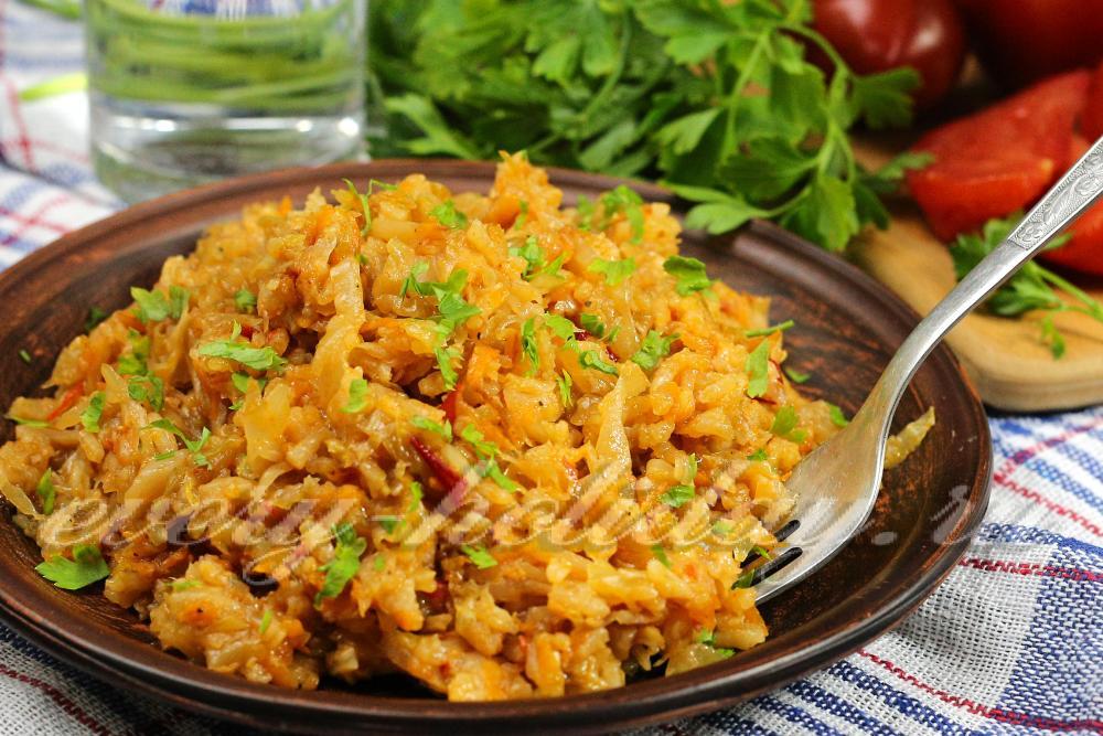 Рис тушеный с овощами рецепт с фото пошагово
