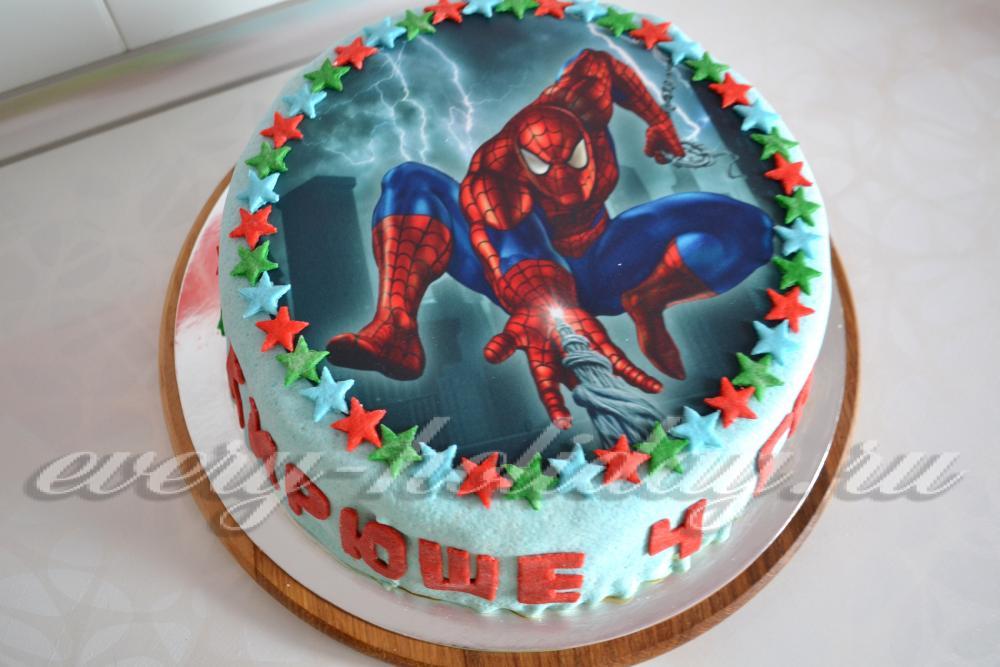 торт с сахарной картинкой фото
