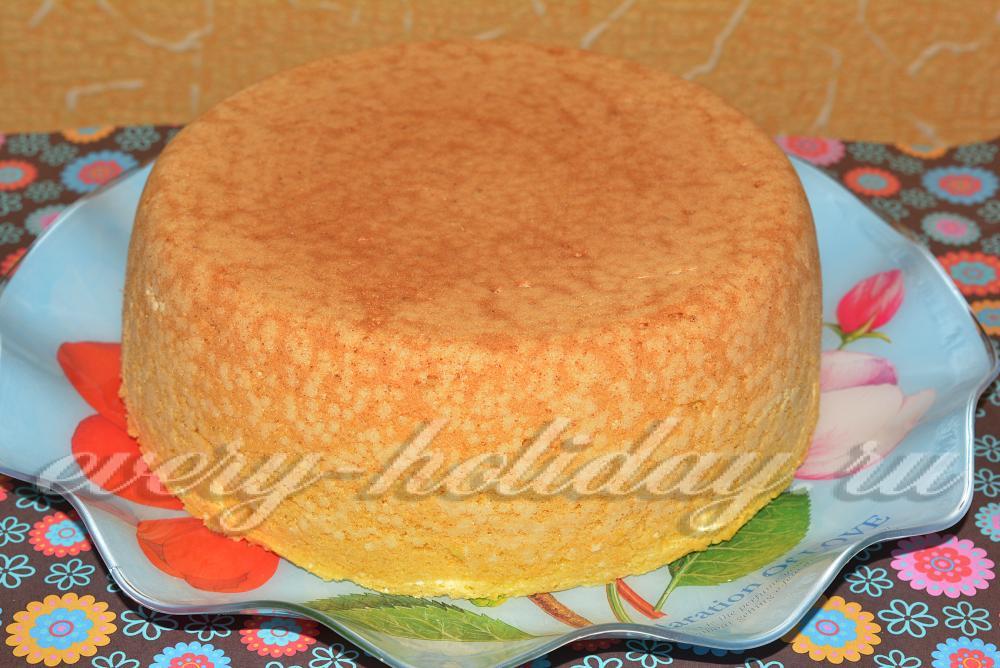 Рецепт бисквита в мультиварке с фото пошагово