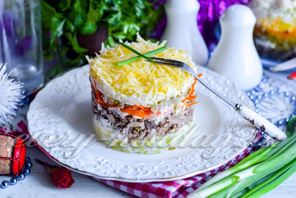 рецепты салатов из печени индейки