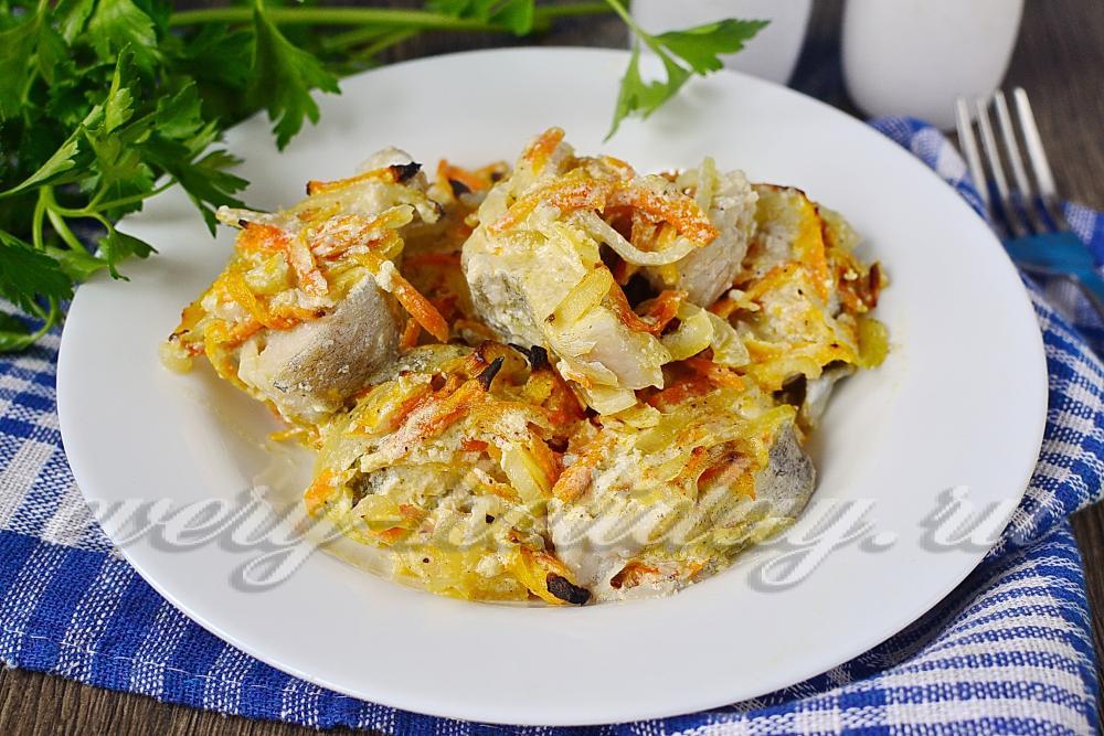 Вкусное блюдо из минтая в духовке пошаговый рецепт