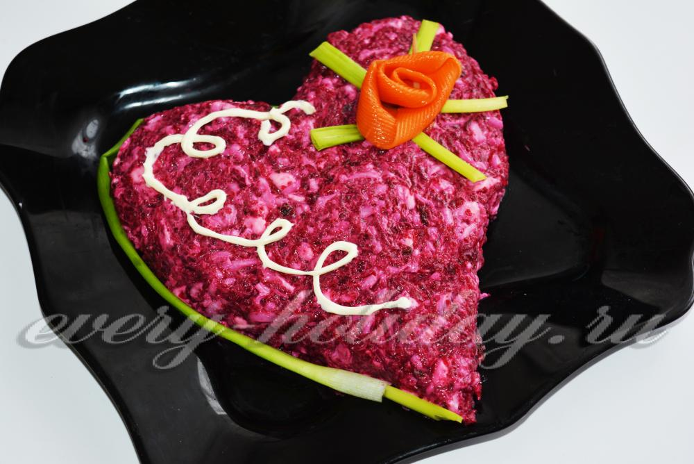 5 самых романтичных салатов на 14 февраля
