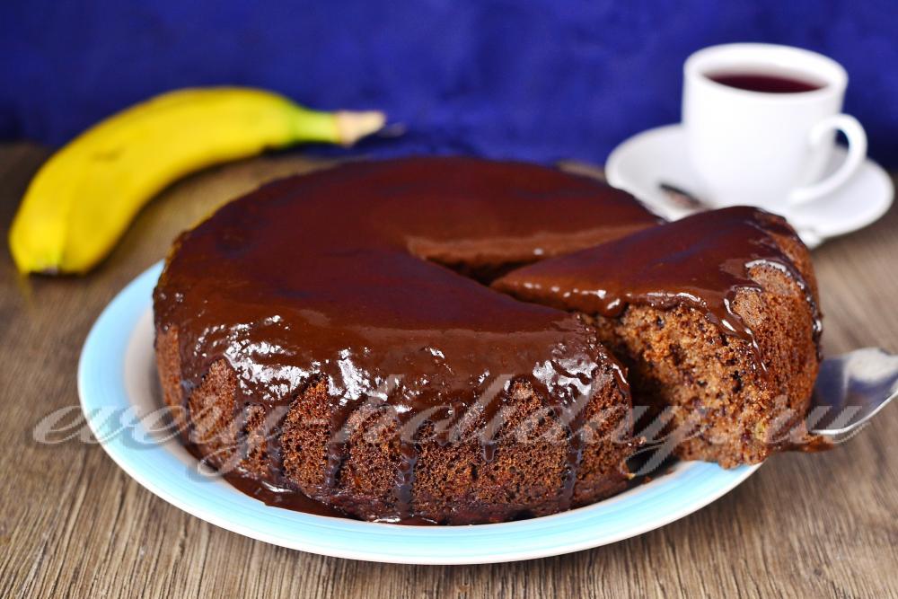 шоколадно банановый кекс в мультиварке рецепт-хв2
