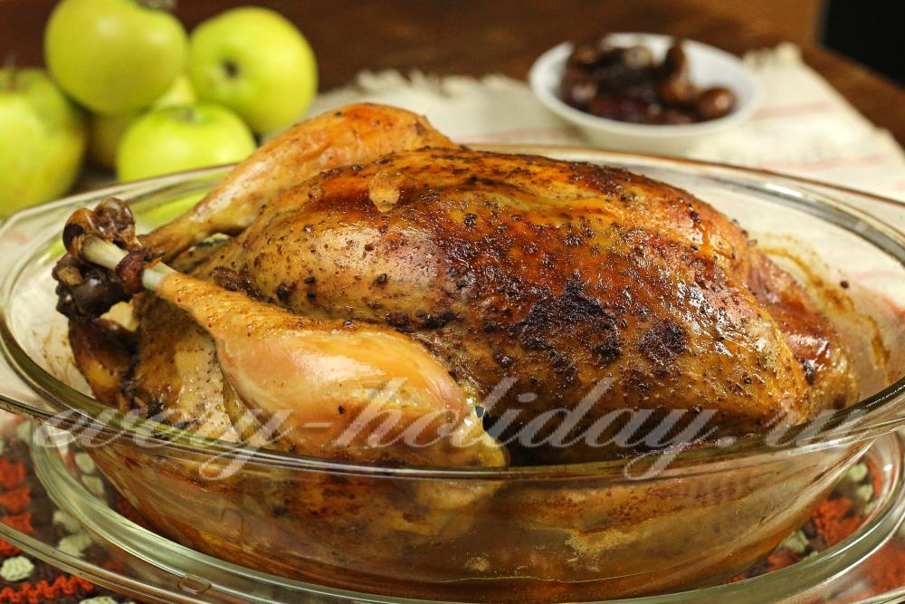 Курица в духовке целиком едим дома