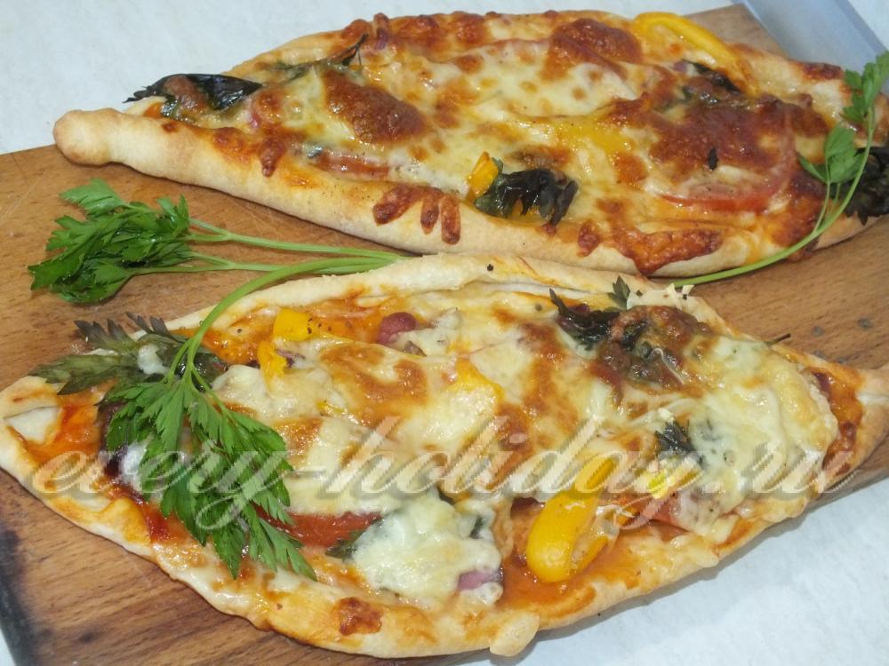 Вкусная пицца с колбасой в духовке рецепт 140