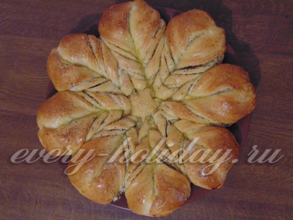 маковый цветок пирог