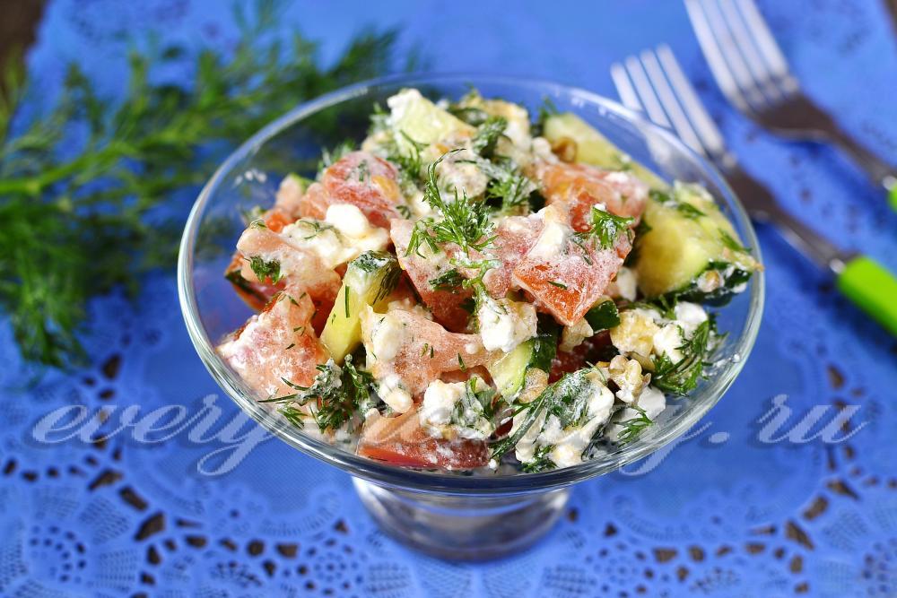Рецепт салатов из брынзы