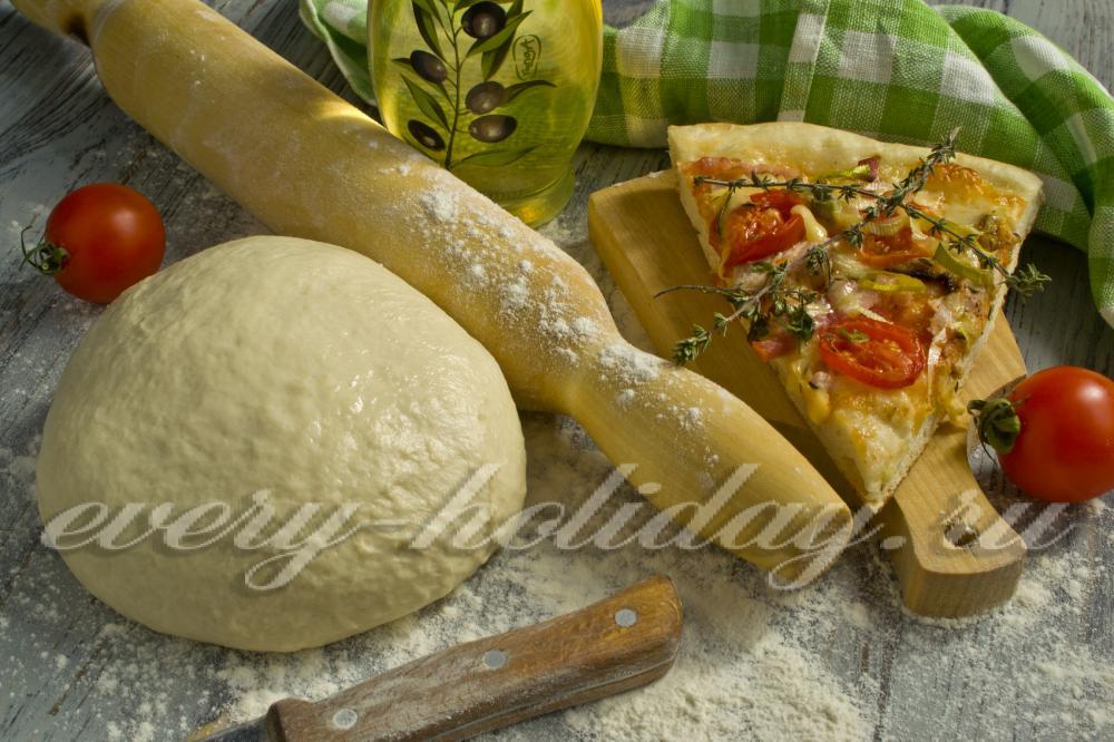 тесто для пиццы итальянский рецепт классический без дрожжей