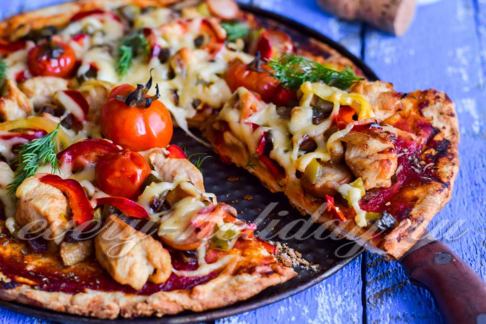 Пицца на тонком тесте в домашних условиях в духовке 802