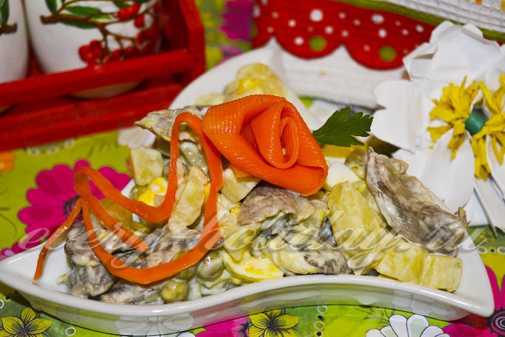 салат с грибами яйцом и сыром рецепт с фото #5