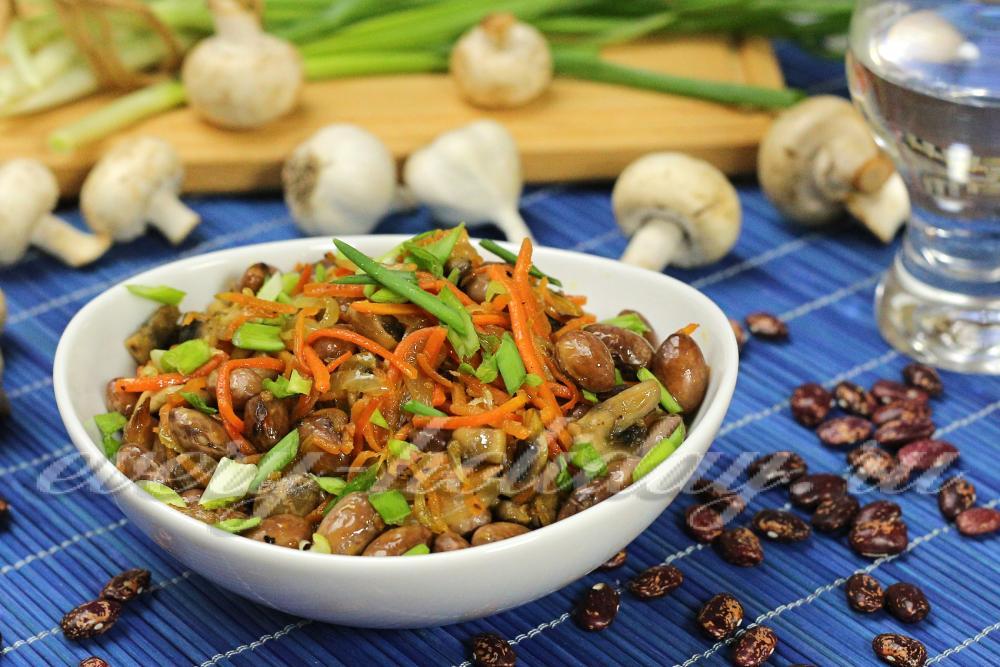 салат с фасолью фото рецепт и морковкой